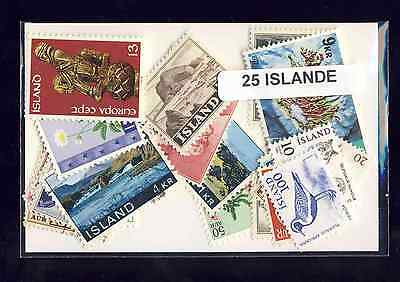 Islande - Iceland 25 timbres différents