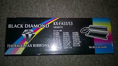 2 x Black Diamond United Kingdom Thermal Fax Ribbons KX-FA55/53 *Free uk p&p*