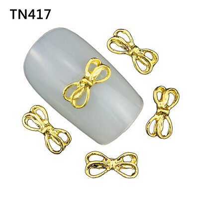 Blueness 10pcs 3D DIY Nail Art Metal Gold Manicure Decoration  TN417