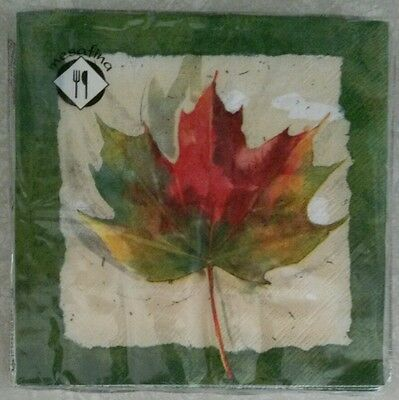 """20 ct 3 ply Paper Party Lunch Napkins 13"""" ~ Fall Maple Leaf Leaves Harvest"""