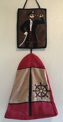 Sweet JoJo Pirate Cove Collection Diaper Stacker Wall Hanging
