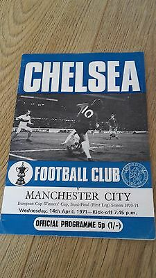 1970-71 European Cup Winners' Cup Semi-Final Chelsea V Manchester City