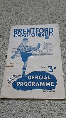 Brentford V Bury 1948-49