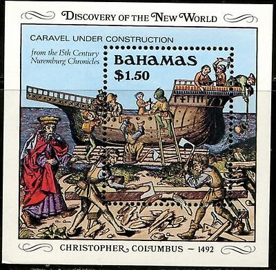 BAHAMAS Sc#667 1989 Columbus Discovery of America Souvenir Sheet Mint NH