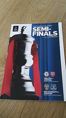 Fa Women's Cup Semi-Finals 2014 Chelsea V Arsenal & Notts County V Everton