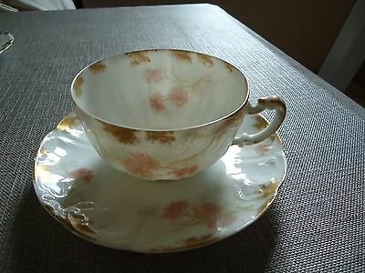 Fine Antique French Limoges Haviland And Co. Porcelain Trio