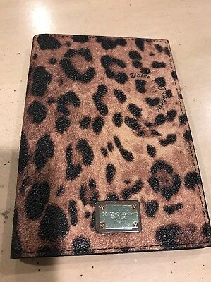 NEw DOLCE & GABBANA Black Leopard ID Passport Wallet Holder Case Clutch