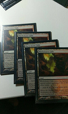Magic the Gathering MTG - Blackcleave Cliffs 4x (NM) - Scars of Mirrodin