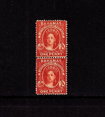 Stamps: Bahamas QV pair Scott 16 (SG 33)