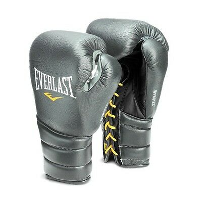 NEW Everlast Protex3 Leather Boxing Gloves Size: 10 oz. Color: Silver