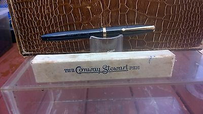 Conway Stewart 85L Black Fountain  Pen ,  Fully Restored & Serviced
