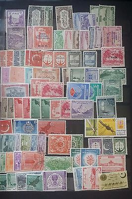 Selection of Pakistan Stamps  taken from old Album 2 pages