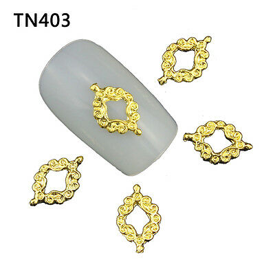 10pcs 3D DIY Nail Art Alloy Metal Gold Charms Manicure TN403
