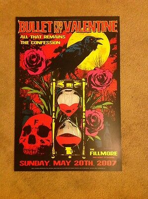 Original Bullet For My Valentine Fillmore Poster F876 Mint