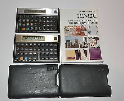 HP 11C Programmable Scientific Calculator + 12C with Case & Manual  Made in USA