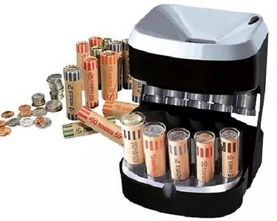 Coin Sorter Machine Automatic Change Money Counter Fast Count Sort Stack Wrapper