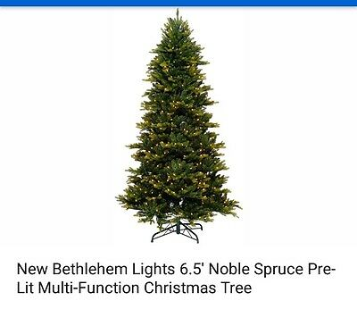 new bethlehem lights 65 noble spruce pre lit multi func christmas tree