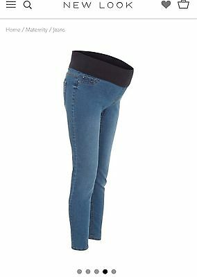 New Look Maternity Pregnancy Skinny Jegging Jeans Size 10 Under Bump