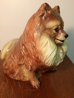 """RARE"" Vintage ""TOWNSENDS"" Hand Painted ceramic Sitting dog Expressive Face"