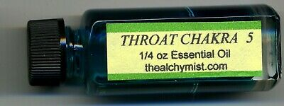 Chakra oil Throat 5 Charge wicca yoga 1/4oz Pagan Altar Ritual  Alchymist1