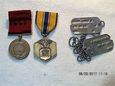 3 - Named Military Medals & ID Tags