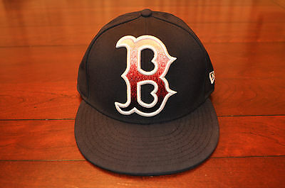 New Era Boston Red Sox 59fifty Fitted Baseball Hat Cap 7 1/8 Big Red B Logo