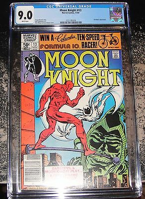Moon Knight #13 (Marvel 11/81) CGC 9.0 WHITE Pages Daredevil Appearance