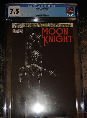 Moon Knight #25 (Marvel 11/82) CGC 7.5 WHITE Pages Classic Cover
