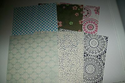 6 Scrapbooking Paper/cardboard (Scp42)  Circa 6X6 Inch  New New Other Side White