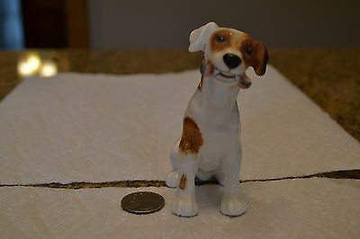 VINTAGE ROYAL DOULTON JACK RUSSELL DOG FIGURINE SITTING w/ BONE HN1159
