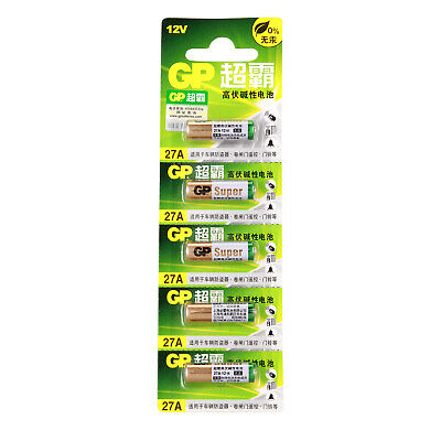 5pcs GP 12V 27A Alkaline Batteries MN27 A27 GP27A E27A EL812 L828 Alarms Battery