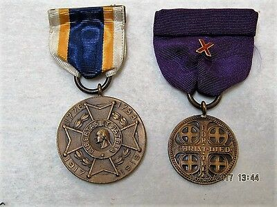 TWO - WW I Service Appreciation Medals - NAMED PERSONS