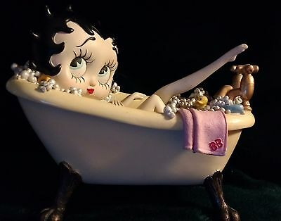 Betty Boop in Bath Tub Figurine Statue **VERY RARE and COLLECTIBLE**