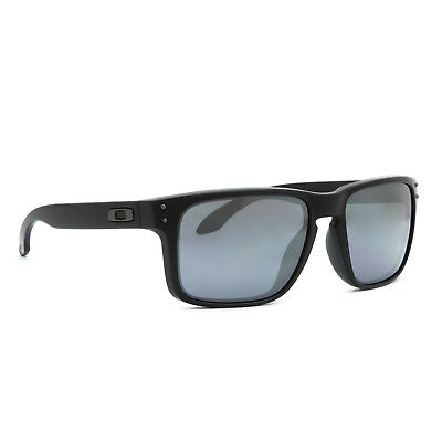 NEW Oakley Holbrook Sunglasses OO9102-63 Matte Black Frame Iridium Mirrored Lens