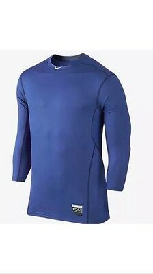 Nike Pro Combat Hypercool 3/4 Sleeve Men's Baseball Shirt Size L *New With Tags*