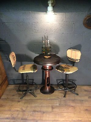 Bespoke vintage industrial cast iron antique table
