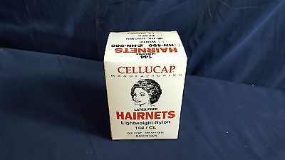 Cellucap Latex Free Hairnets HN-500 Dark Brown Lightweight Nylon 144 per box NEW