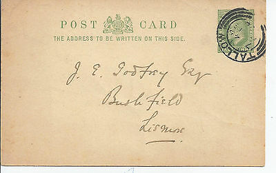 Stationery: GB KEVII card used in Ireland
