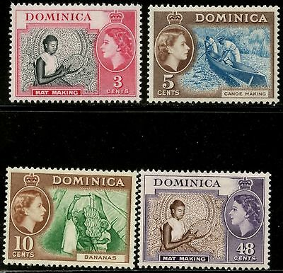DOMINICA Sc#157-160 SG#144/155 1957 QEII Added Values Complete Mint LH
