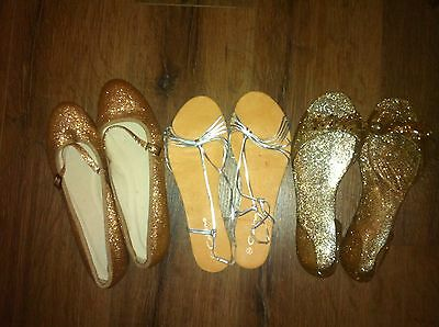Ladies Girls Women's Shoes Size 40 Size 7 Job Lot 3pairs Of Shoes