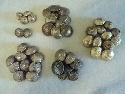 French WWI Engineer Corps Tunic Buttons, Officers' & EMs', Dress & Service--47