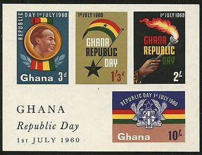 GHANA Sc#81a//191a 1960-64 Five Souvenir Sheets Mint NH