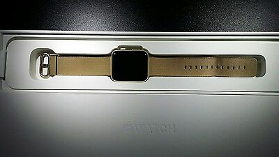 Apple Watch Series 2 42mm Gold Aluminum Case Coffee - Classic Buckle -In Box
