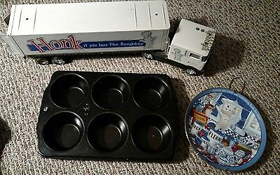 Pillsbury Doughboy Collection. Plate, Ingredient For Fun, Tractor Truck, Muffin