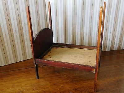 Antique TYNIETOY TYNIE TOY Miniature Dollhouse FOUR 4 POSTER WOODEN BED