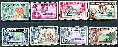 PITCAIRN IS. Sc#1-8 (No 5A, 6A) 1940 First Defins Complete as Issued Mint LH