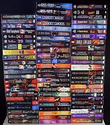 Huge lot of 72 Paranormal Romance Books paperbacks Vampire Witches Feehan Sparks