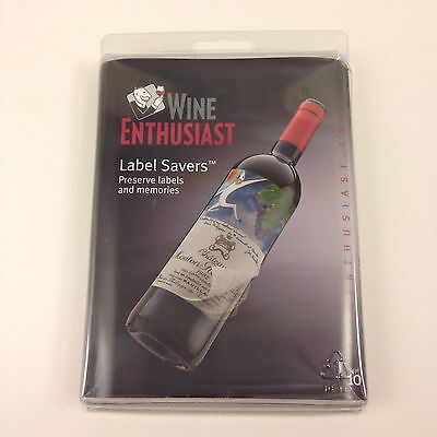 NEW in Package Wine Enthusiast Wine Label Savers Set of 10