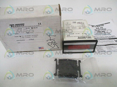 Texmate Dx-45-Dr-Ps1-Ip02 Programmable Panel Meter Controller *new In Box*