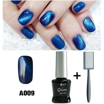 Mro 009 Uv Led Magnetic Gel Nail Polish With Magnet For Nail Salon Blue New